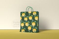 Watercolor citrus clipart Orange digital paper Product Image 2