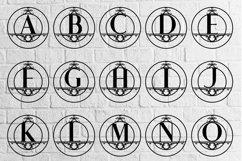 Rounded Monogram Alphabet A-Z Product Image 2