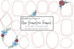 Rose gold geometric frame png Product Image 1