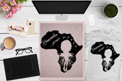Afro Woman Roots, Africa Map, Black History Month SVG File Product Image 1
