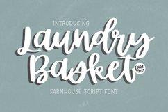 LAUNDRY BASKET Farmhouse Script Product Image 1