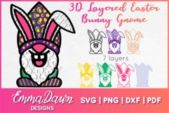 3D LAYERED EASTER BUNNY GNOME SVG, 3D SVG, 7 LAYERS Product Image 1