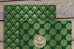 Gold and Forest Green Digital Papers Product Image 3