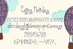 Enjoy Holiday - Unique Handwritten Display Font Product Image 4