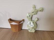 3d cactus, wall decor, papercraft cactus,cut model Product Image 4