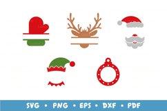 20 Christmas Frames Bundle, Monogram Frames SVG Cut Files Product Image 3