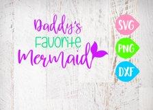 Daddy's Favorite Mermaid Svg, Mermaid Svg, Beach Svg, Ocean Product Image 1