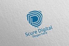 Secure Digital Letter D Digital Marketing Logo 78 Product Image 2