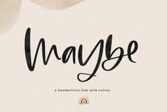 Maybe - Script Font with Doodles Product Image 1