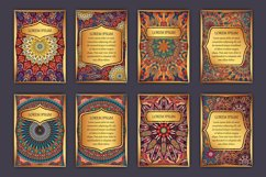Mandala ethnic cards vector templates set. Product Image 2