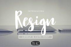 Resign Modern Brush Font Product Image 1