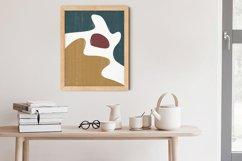 Abstract Shapes Print, Boho Decor, Mid Century Modern Art Product Image 2