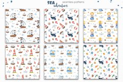 Watercolor Sea adventure. Clipart, seamless patterns, cards Product Image 11