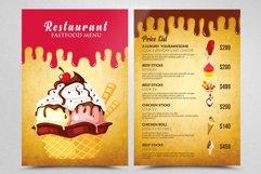 Ice Cream Restaurant Menu Flyer Product Image 1