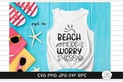 Beach More Worry Less Summer SVG Product Image 1