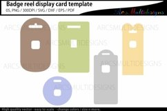 Badge reel display card template / retractable Product Image 1