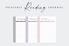 Printable Book Reading Journal Product Image 5