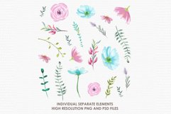 Lilian - Digital Watercolor Floral Flower Style Clipart Product Image 2