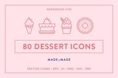 Line Icons - Dessert Product Image 1