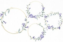 Watercolor Flowers Wreaths Gold Frames Wedding Wildflowers Product Image 3