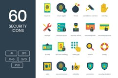 60 Security Icons Product Image 1
