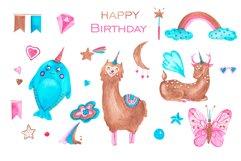 Happy birthday with unicorns Product Image 2