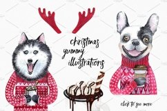 CHRISTMAS AND DOGS watercolor set Product Image 5