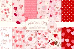 Valentine's Day Seamless Pattern Digital Papers Product Image 1
