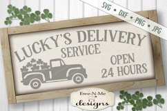 St. Patricks Day Truck Lucky's Delivery SVG DXF Cut File Product Image 1