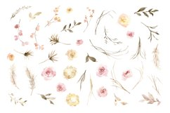 Vintage Watercolor Roses Flowers and Wreaths Product Image 2