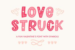 Love Struck, Thick Valentine's Heart Font Product Image 1