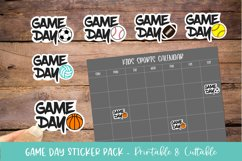 Sports Game Day Sticker Bundle 6 Pack - Printable & Cuttable Product Image 1
