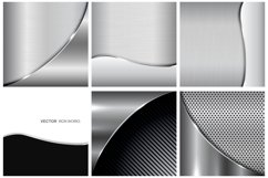 Collection of metallic backgrounds. Product Image 1