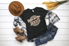 Retro born in the 2000s sublimation png, 2000s T-shirt desig Product Image 5