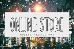 Online Store | Modern Typeface Font Product Image 1