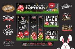 Easter Sale Banner Background & Emblem Logos Product Image 1