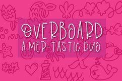 Overboard - A Mermaid Font Duo - Dingbat Font Product Image 1