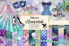 Iridescent Masquerade Digital Scrapbooking Kit Product Image 1
