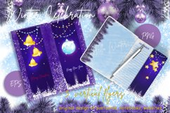 Vertical Christmas background. Cards for greeting. Product Image 2