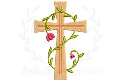 Decorative Vine Crosses Embroidery File Bundle Product Image 5