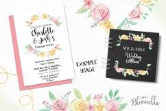 Rose Bliss 7 Frames Watercolor Floral Border Flowers Pink Product Image 3