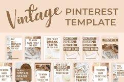 Vintage Pinterest Canva Template Product Image 3