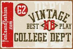 Vintage College Dept_Worn Product Image 1