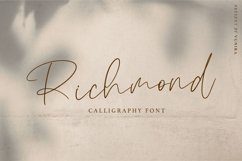 Richmond | Calligraphy Font Product Image 1