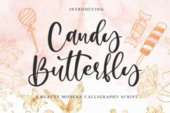 Candy Butterfly a Beauty Modern Calligraphy Product Image 1