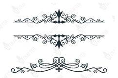 decorative floral swirl split baner svg bundle Product Image 3