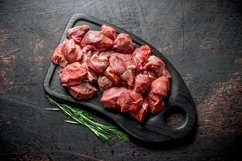20 Photos Cut raw beef with spices. Raw beef background Product Image 6