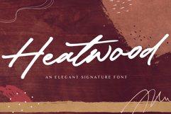 Heatwood An Elegant Signature Font Product Image 1