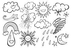 Happy Sky Weather Seasonal Climate Illustrations Product Image 3