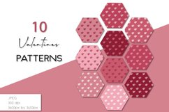 Hearts Digital Paper, Valentines Backgrounds Product Image 1